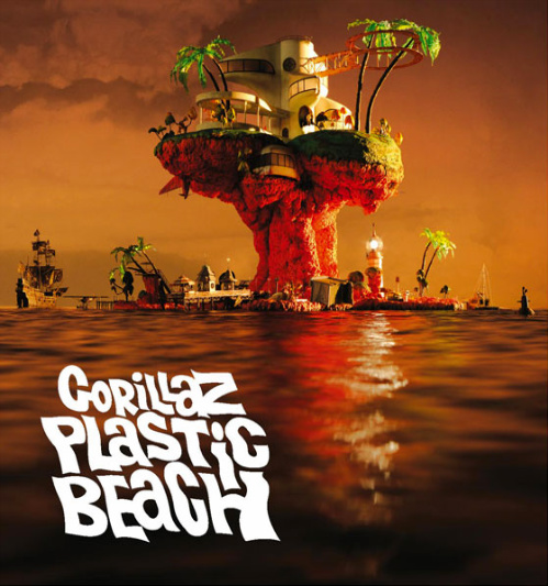 Gorillaz - PLastic Beach Album Cover Art